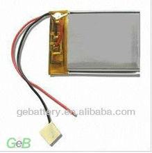High capacity 3.7V li-polymer soft pack battery 343450
