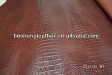 crocodile embossed cow leather for Ipad and Iphone sleeve