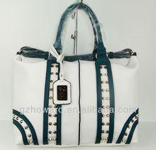 rivet design fashion bag guangzhou factiry price lady handbag