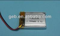 3.7v 700mah rechargeable battery,li-ion 700mah 3.7v battery,3.7v 700mah battery