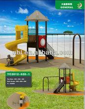 children plastic slide and swing set