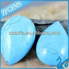teardrop turquoise flat beads