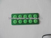 Pharma grade 100% virgin PVC green color rigid plastic film