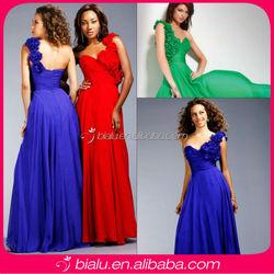 Fashion Hot One Shoulder Long Chiffon Cocktail Dress