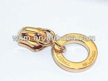 Metal ring zipper pull