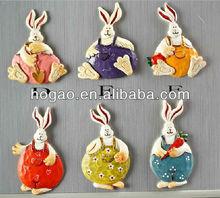 Easter rabbit fridge magnet