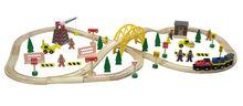 2015 Top 70pcs Wooden Railway Set,Wooden railway toys