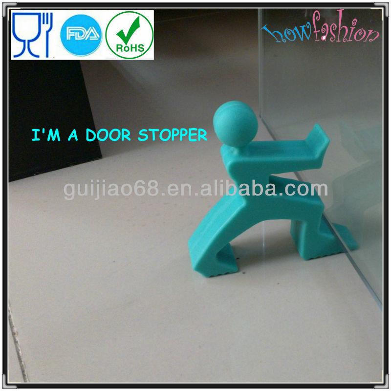 Estatueta silicone engraçado de borracha porta cunha