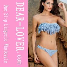 2015 sex xxl arab women sexy Tassel Bikini Swimwear