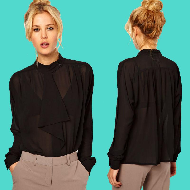 2013 de la señora de nuevos modelos de moda de blusas en de la gasa