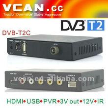 dvb t2 tv box DVB-T2C decoder mobile digital DVB-T2 vcan 2012 mpeg4 tuner audio 12v