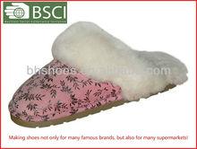 2013 Sheepskin slippers women