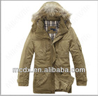 korean hooded winter trench coat men