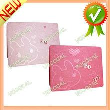 PU Leather Cartoon Rabbit Case for iPad 2 3