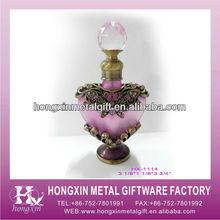 HX-1114 Wedding gifts pink metal perfume bottle