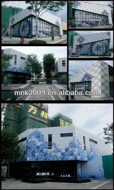 Baldosas de porcelana de inyección de tinta UV exterior mural de la pared