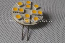 SMD/SMT LED Warm-White G4 Puck or Disc Light Module 12V AC/DC 12 LEDs Onboard G4 LED Marine Light
