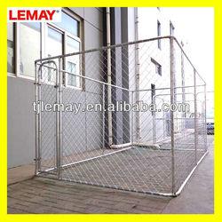 large galvanized pet dog cages