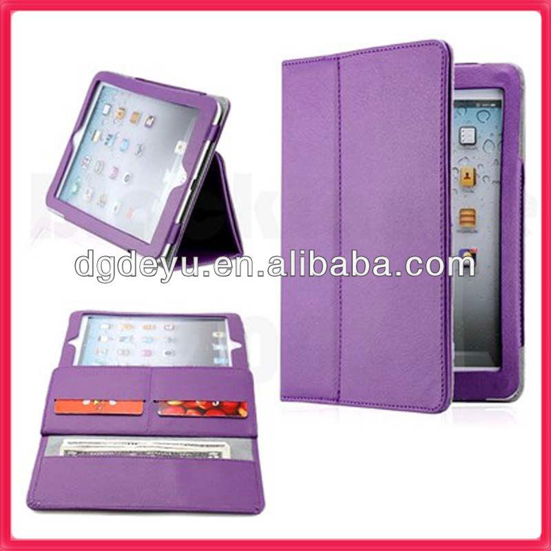 Wallet case for mini ipad purple
