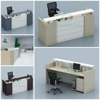 New office Reception furniture design with 50mm MFC material (KB-KE-ZY01-2406)