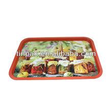 rectangular fruit metal tin tray
