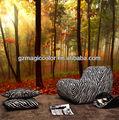 selva de paisagem com folhas vermelhas de impressão de papel de parede murais