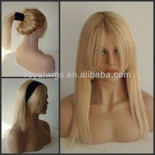 100% european hair Ukraine hair mono top glueles full lace wigs