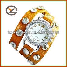 Elegant Splendid Print Roman Craft Ladies Chain Leather Watch Strap