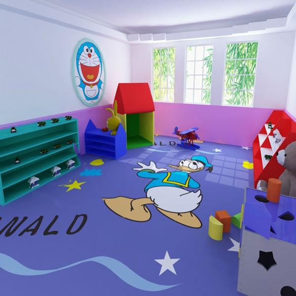 Flooring For Kids Room : kids room cartoon vinyl flooring