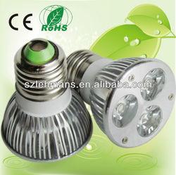 Shenzhen manufacturer supply e27 led bulbs/spotlight lamp 12v 3w power