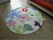 Acrylic Printing mat household round rug