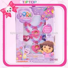 2015 fashion Dora kids jewelry set