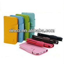 Color Book Mobile Phone Leather Case For Samsung Galaxy Ace S5830 Case