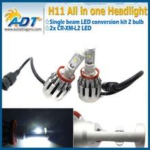 The New 4rd generation 80w 6000lm Car LED Conversion kit H11 single beam 6000K LED Headlight Kit for cars