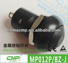 Black Colour Plastic Push Button Switch / Lock Switches ( Dia:12mm)