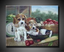 Handpainted animal paintings art craft on canvas