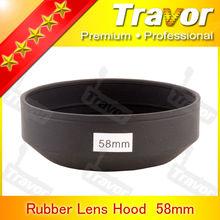 Professional Rubber Lens Hood 58mm slr camera accessories