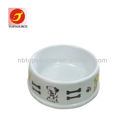 2013 Hot Sale Fashional Plastic Dog Bowl With Dog and Bone Picture