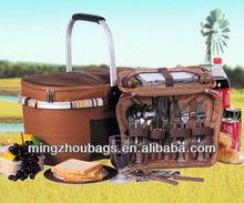 600D fashion picnic basket cool bag
