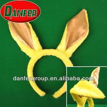 fashion plush bunny ear headband decoration