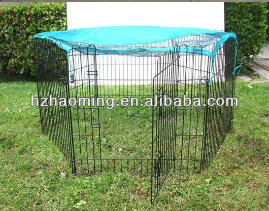 metal rabbit hutches