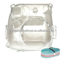 Fuji Fujifilm Instax Mini Mini 8 Film Camera Clear Plastic Case with Strap Polaroid