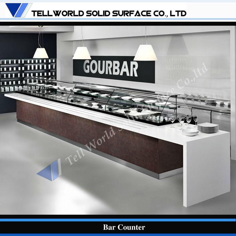 Design Moderno Buffet Comercial Restaurante Self Service Contador Mesas De Bar ID Do Produto