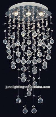 Lampadari di cristallo con pendenti sfera di cristallo - Como hacer lamparas de techo modernas ...