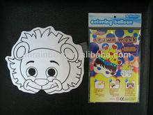 funny lion paper mask