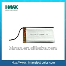 CE/UL 3.7V 1800mAh Rechargeable Polymer li ion Battery GPS/GSM battery