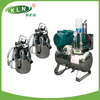 KLN brand fixed pipeline milking machine group with two buckets for two cows at a time +86-13792190382