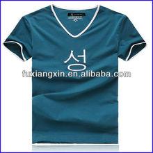 Wholesale 100 Cotton Men V-neck T-shirt manufacture