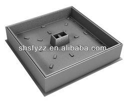 EN124 B125 spheroidal graphite iron recessed cover