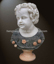 Decorative Lovely Little Boy Marble Bust Statue